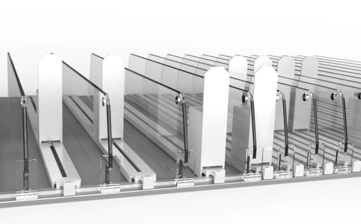 Neuartiges Warenvorschubsystem speziell für kleinteilige und leichte Produkte...